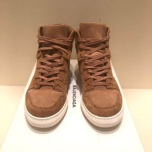 Balenciaga Tan Suede Sneakers!